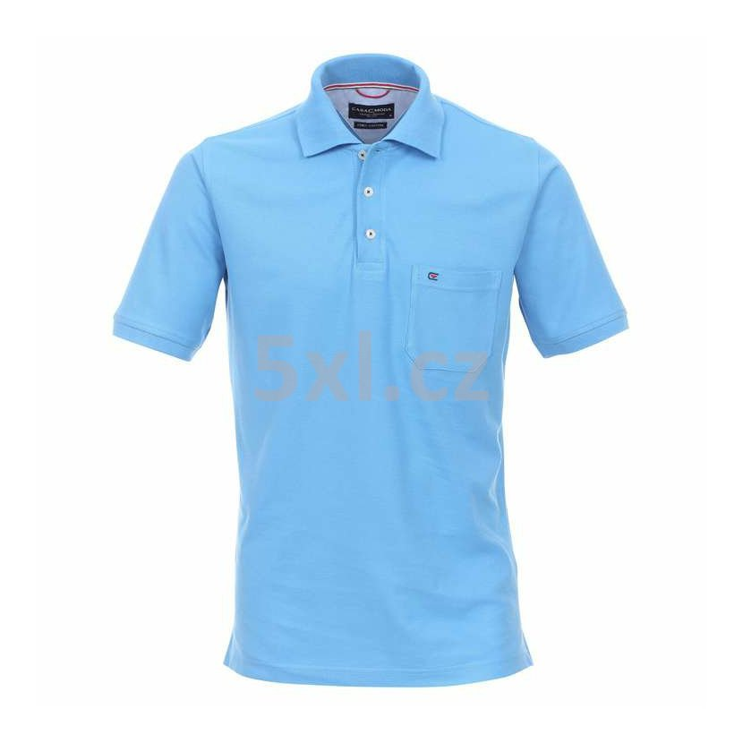 Pánská polokošile Casa Moda 6XL krátký rukáv světle modrá b7a471d120