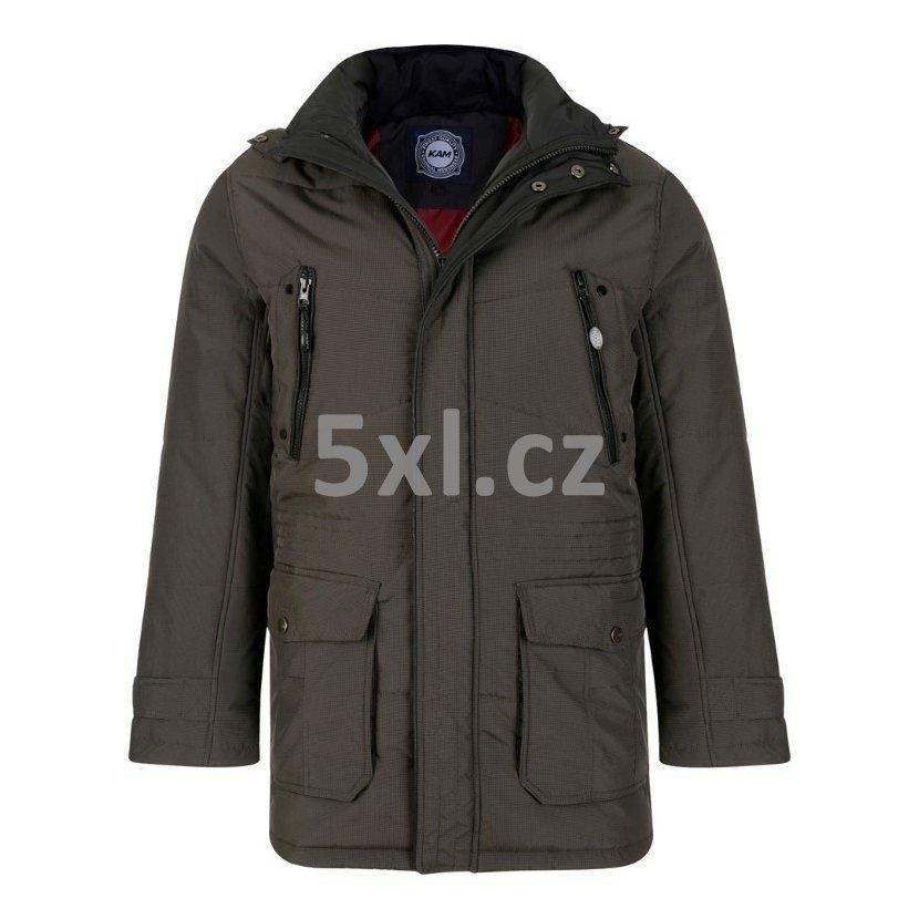 Pánská zimní bunda černo-šedá 6XL - 8XL ( UK  8XL -10XL ) - velikost 8XL 50bcd8df5b