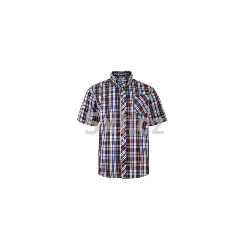 4dfa89df95e Pánská košile NAVY kostkovaná KBS6021 krátký rukáv 3XL - 8XL vel. 150