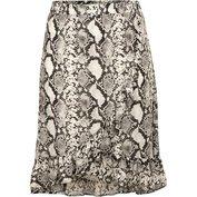 Sukně černo-bílá spotiskem  - velikost 56